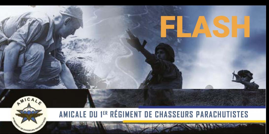 Flash...Le Capitaine (er) Marcel CLEDIC a effectué son dernier saut. Il a rejoint Saint Michel et avec ses camarades des FFI, d'Indochine et d'Algérie il veille sur nous. Flash