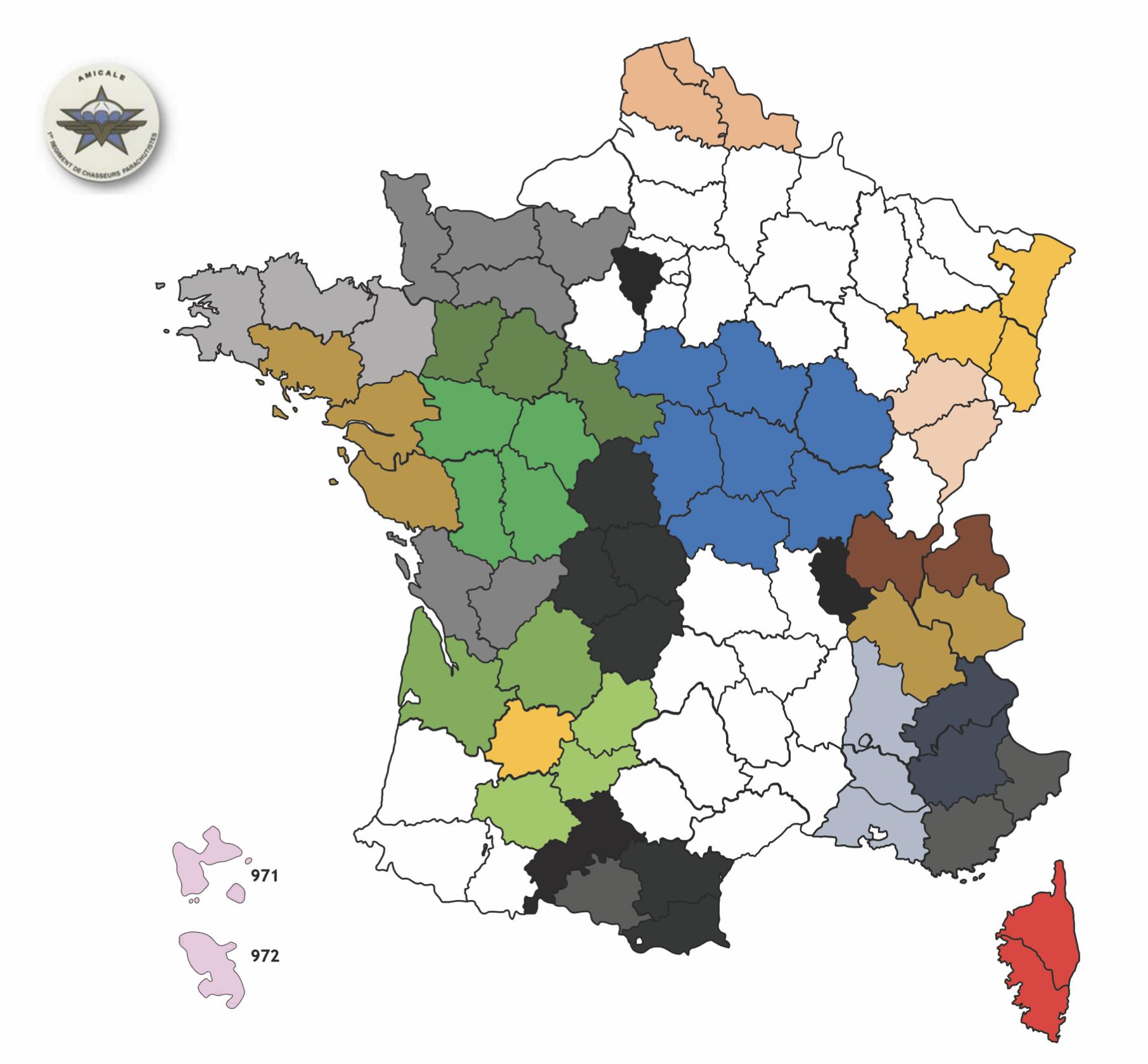 Couverture France et Outre-Mer des délégués