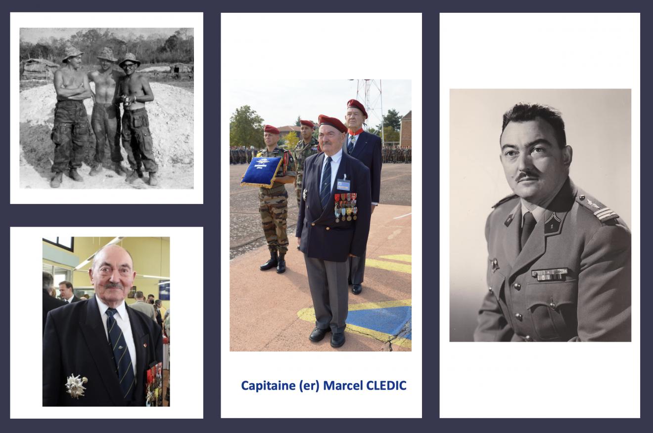 Flash...Le Capitaine (er) Marcel CLEDIC a effectué son dernier saut. Il a rejoint Saint Michel et avec ses camarades des FFI, d'Indochine et d'Algérie il veille sur nous. Cne-cledic-photos-1-1320x877