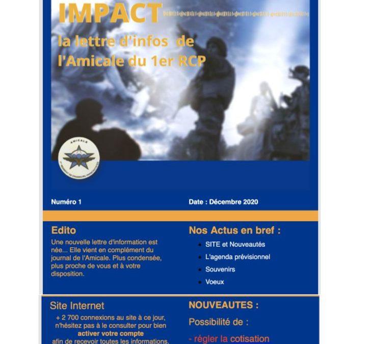 IMPACT n°1 du 18 décembre 2020