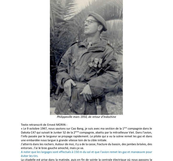 Officier tradition du 1er RCP – Don de l'Adjudant-Chef (er) E. Morin