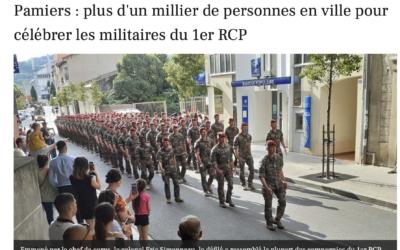PAMIERS : plus d'un millier de personnes en ville pour célébrer les militaires du 1er RCP