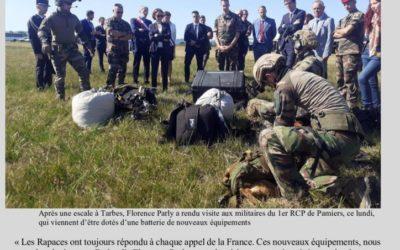 Visite de la Ministre des Armées et Saint Michel au 1er RCP